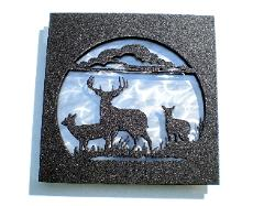 Stainless metal wall art 3D