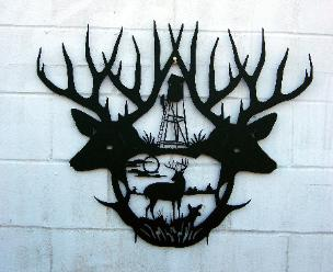 Whitetail Deer scene for wall art