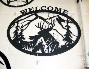 Metal wildlife welcome signs by plasma designs.