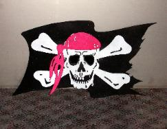 Metal jolly roger from Plasma designs.