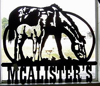 Plasma designs metal signs and metal silhouettes